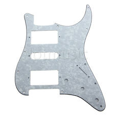 Guitar Pickguard For Fender Strat Stratocaster Parts HSH 3 Ply White Pearl