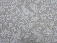 Heathland Linen Birds Rabbits Curtain Craft Upholstery Designer Fabric