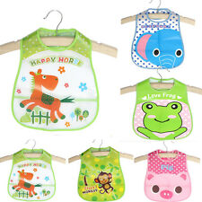 Baby Kids Infant Toddler Child Animal Waterproof Saliva Towel Lunch Bibs Apron