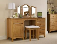 Kendal Dressing Table Twin Pedestal 5 Drawer 1 D With Option of Stool