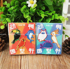 owl whale Parrot dolphins hornbills bird animal Metal Paperclips Bookmarks jy
