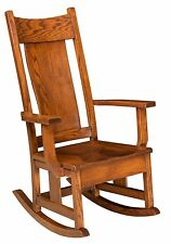 Amish Mission Springfield Solid Wood Rocking Chair Rocker