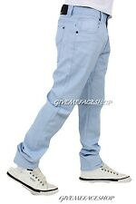 G King slim fit chino, sky blue straight fit, cotton chinos star jeans mens/boy