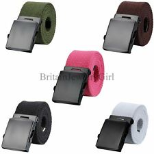 Fashion Mens Unisex Military Style Waist Belt Casual Canvas Belt Waistband Strap