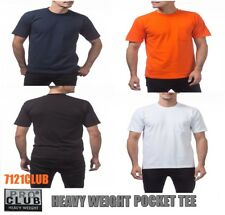 PROCLUB HEAVYWEIGHT POCKET T SHIRT WORK Mens Plain Crewneck Short Sleeve M - 5XL