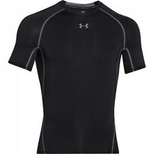 Under Armour Mens HeatGear Armour Short Sleeve Compression Shirt Black
