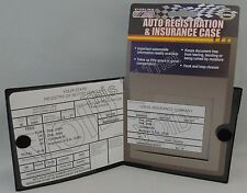 Auto Car Truck Registration Insurance Document Holder Wallet Case Id Black Card