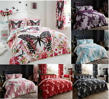Butterfly Polycotton Duvet Cover Quilt Cover Bedding Set With Pillow Case