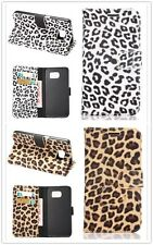 Luxury Leopard Print PU Leather Wallet Flip Cover Case For iPhone Samsung HTC M9