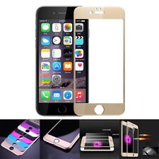 3D Full Covered Metal Tempered Glass Screen Protector For Apple iPhone 6&6s Plus