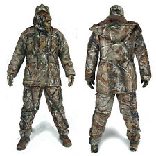 New Winter Waterproof Cotton Hunting Camouflage Ghillie Suit Set Jacket+Pants