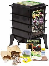 Worm Factory 360 4 Tray Worm Composter by Natures Footprint FREE XTRA Core brick