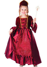 GIRLS KIDS CHILDRENS DELUXE RED CINDERELLA FAIRY GODMOTHER COSTUME DRESS AGE 4-8