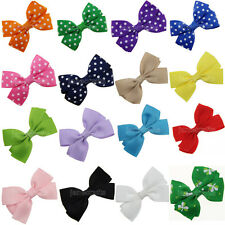 12pc Boutique Girls Baby Kid Toddler Pigtail Hair Bows Ribbon Headband Accessory
