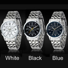 Stainless Steel Watch Business Quartz Dress Wrist Watch Fashion Luxury