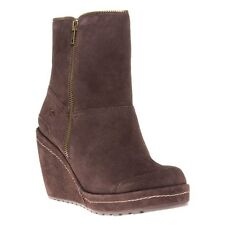 New Womens Rocket Dog Brown Boyd Suede Boots Ankle Zip