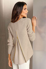 NEW EziBuy Pullover Capture European Zip Drape Back Coats Jackets Blouses