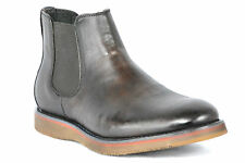 Kenneth Cole Reaction Mens Thank Me Later Brown Leather Chelsea Ankle Boots