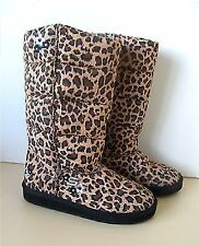 New Girls Skechers BLIZZARDS - HUFFY PUFFY Leopard Slip On Winter Boots