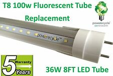 NEW T8  LED Tube Light 8FT Clear 36W, 100W Fluorescent Light Bulb Replacement
