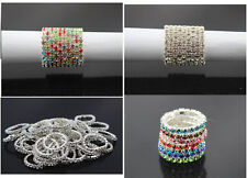 Hot sell Wholesale Jewerly Lots 20/50/80 Mix color Full Czech Rhinestones Rings