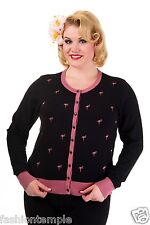 Banned Plus Size Flamingos Pattern Long Sleeved Womens Cardigan UK 16 18 20 22