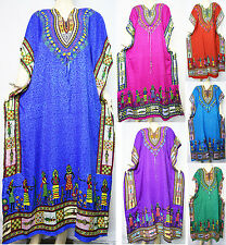 Dashiki African Kaftan Abaya Poncho Caftan Maxi Hijab Dress Women's Casual Gown