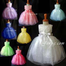#SP3 Baby Girl Christening Formal Party Dresses 0 3 6 9 12 18 24 Months 2 3 4 5T