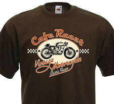T-Shirt CAFE RACER Vintage Motorcycle BSA Custom Biker Norton Triumph ROCKERS