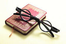 TR-90 Black  Foldable Portable Size 32mm Small Round Reading Glasses+1.00~+4.00