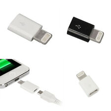 Micro USB to 8 Pin Lightning Adapter for iPhone 5S 6 6S Plus Sync & Charge 5PCS