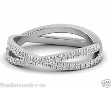 0.75 carat Round Brilliant Cut Diamond Full Eternity Ring in White & Yellow Gold