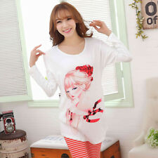 Winter New Womens Pajamas Set Nightdress Pyjama Long Sleeve Sleepwear Homewear