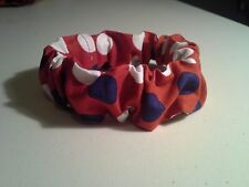 Dog Collar Cover Scrunchie, Patriotic, Red, White, Blue, Custom Made by Linda, S