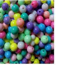 50/100pcs Candy color beads round bead acrylic beads color beads scattered beads