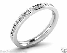 0.35ct Round Brilliant Cut Diamonds Half Eternity Wedding Ring, Gold & Platinum