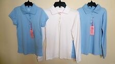 NWT Copper Key Stain-Resistant Long Short Sleeve Polo Shirt School Uniform Pick