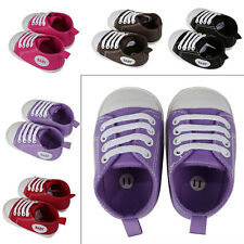 Fashion Prewalker Infant Sweet Canvas Sneaker Antiskid Shoes Trainer 0-12 Months