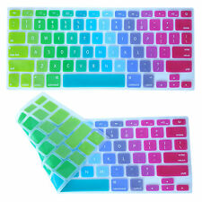"Rainbow Silicone Keyboard Protector Cover For Macbook Air Pro Retina 13"" 15"" 17"