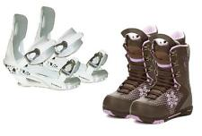Silence Metric Snowboard Boots & Symbolic White Bindings Package + roxy dcal 8 9