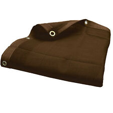 Brown Mesh Screen Shade Tarp , Hauling Tarp w/grommets- Choose Size (10$ off 2+)