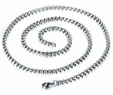 2/3/4/5MM MEN's Stainless Steel Silver/Gold/Black Pearl Box Chain Necklace