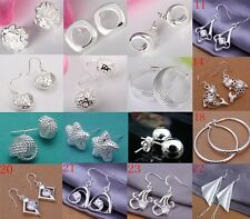 wholesale Jewelry  fashion 925Silver beautiful Ladies Earrings + gift Box