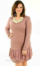 Pretty Angel Clothing Margaret Tunic Shirt Dress In Mauve S M L XL 10858