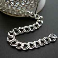 Sterling Silver Cable Chain Double Plain Twisted 5mm Bulk Lots By The Foot Italy