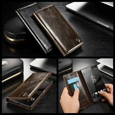 Luxury Retro Flip Leather Wallet Card Stand Case Cover for Sony Xperia Z3 Z4 Z5