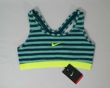NIKE PRO WOMENS DRI-FIT CLASSIC STRIPE SPORTS TRAINING TOPS BRA #629154-NWT