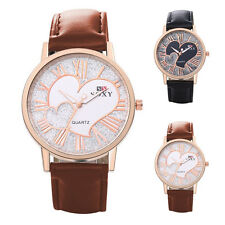 Luxury Men Date Leather Stainless Steel Military Sport Quartz Wrist Watch WH0033