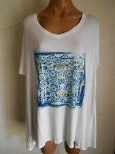 Womens Autograph Plus Size 22 24 26 White T Shirt Tops Fit Plus Size 26 28 30