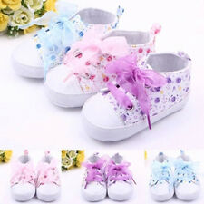 Kids Baby Boots Girls Lace Up Soft Sole Crib Sneakers Shoes Toddler Shoes 0-18M